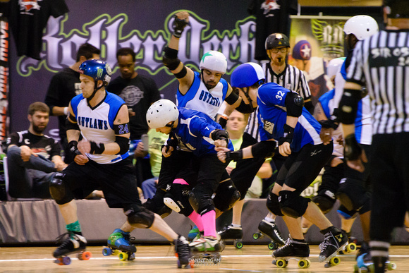 Game 5: Denton County Outlaws vs. Mass Maelstrom Roller Derby