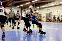I-5 Rollergirls vs. Rose City Rosebuds.