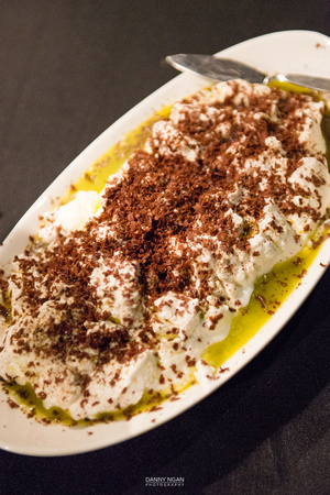 Ricotta Cheese with Olive Oil and Dark Chocolate