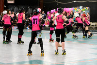Hula Honeys vs. Pink Pistols.