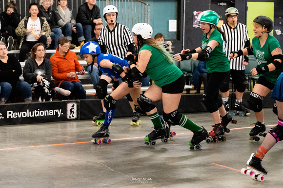 Toxic AvengHers vs. Mighty Rollers.